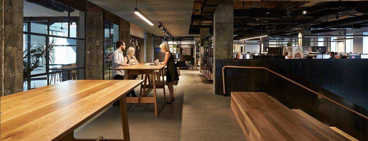 Oficinas de madera zona común | Muebles de oficina Spacio