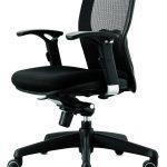 Silla oficina Madonna negra perfil | Muebles de oficina Spacio