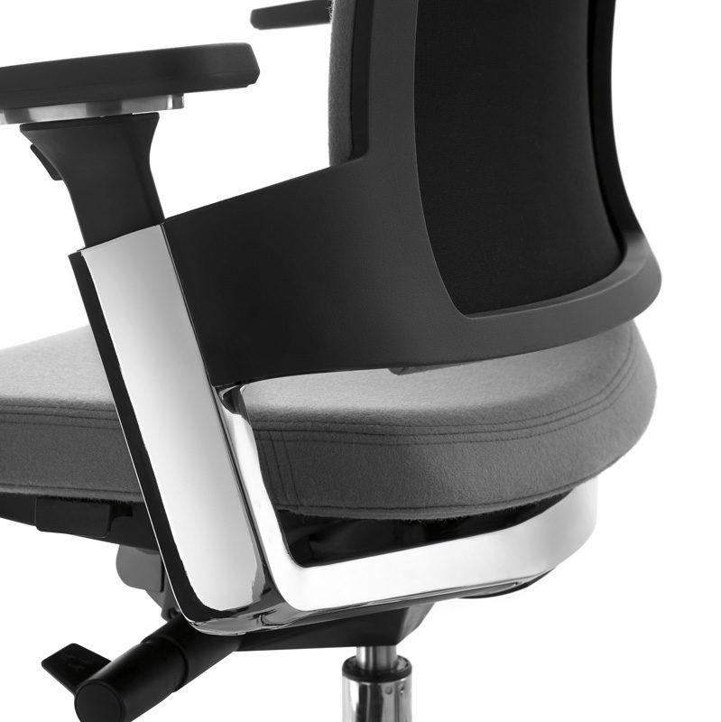 Silla oficina ergon mica muebles de oficina spacio for Silla escolar ergonomica
