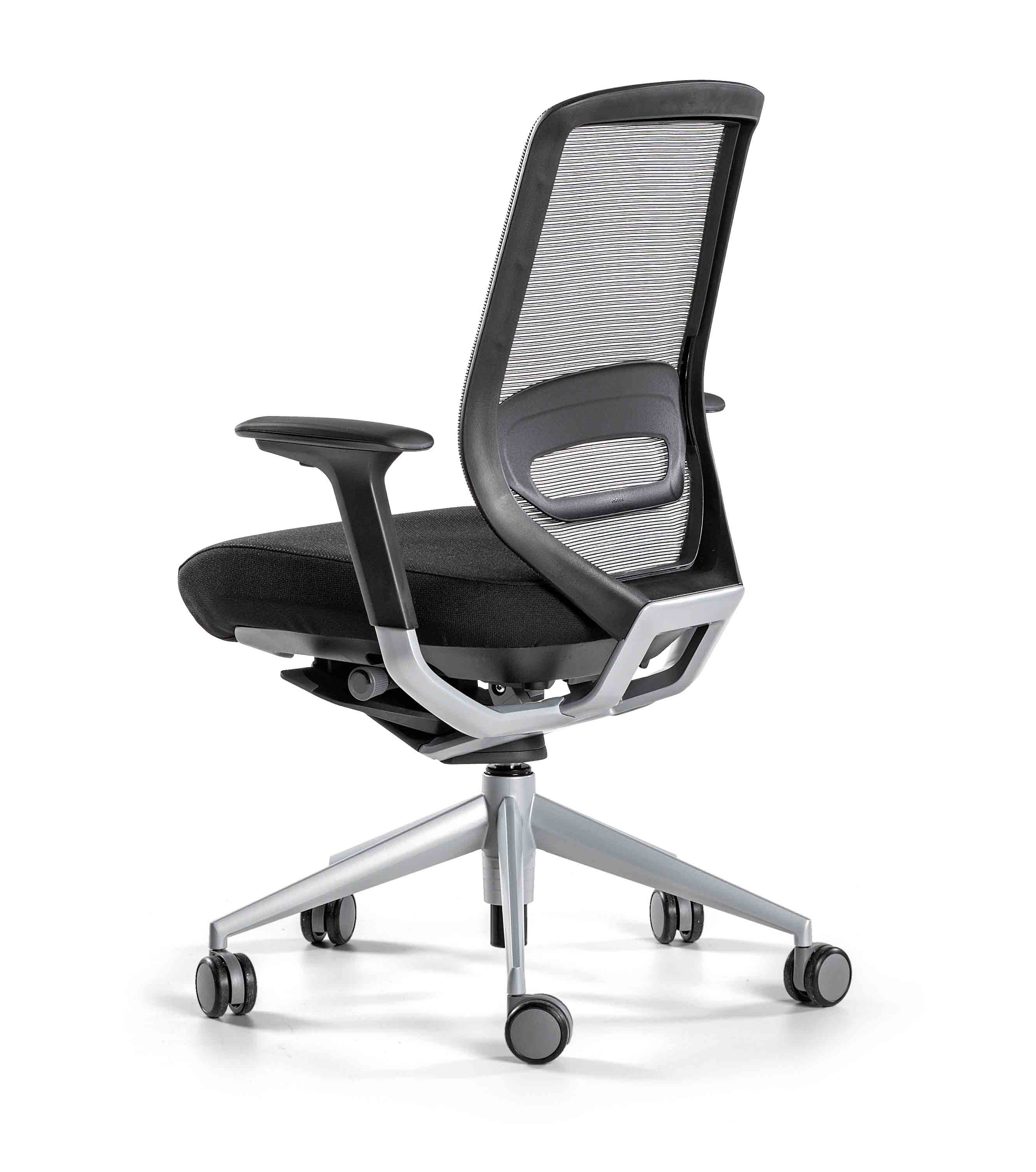 Sillas giratorias tnk ergon micas muebles de oficina spacio for Sillas ergonomicas con apoyo lumbar