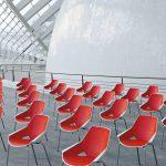 Sillas multifunción Viva roja y blanca exterior | Muebles de oficina Spacio