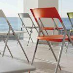 Sillas plegables Plek patas aluminizadas | Muebles de oficina Spacio
