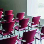 Sillas sala espera Eina estructura cromada | Muebles de oficina Spacio