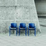 Sillas sala espera Eina tapizadas | Muebles de oficina Spacio