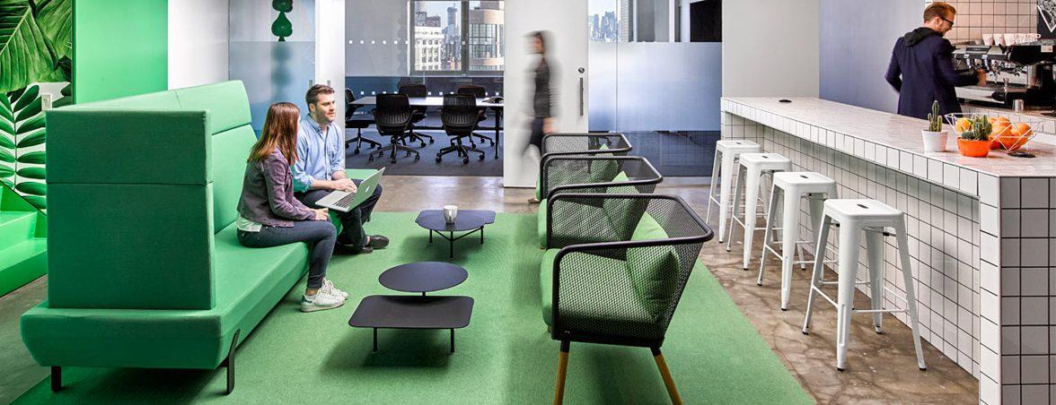 Zonas comunes en oficinas restaurante | Muebles de oficina Spacio