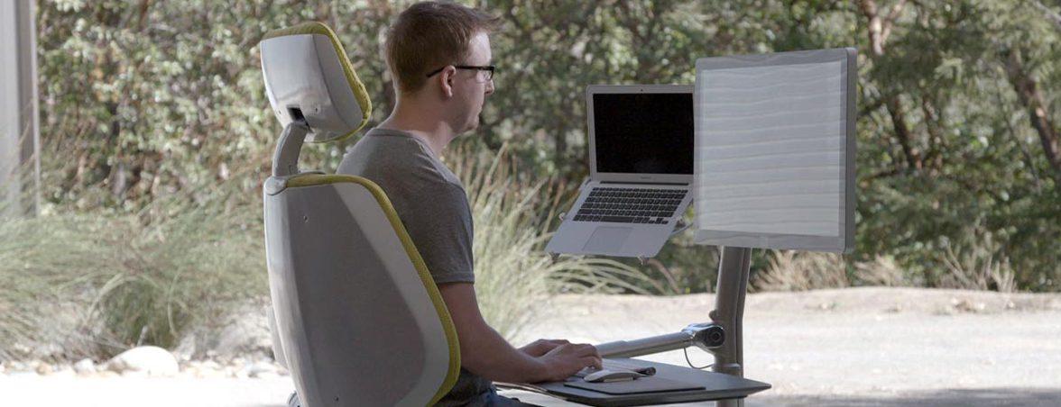 Escritorio para trabajar tumbado posición sentado | Muebles de oficina Spacio