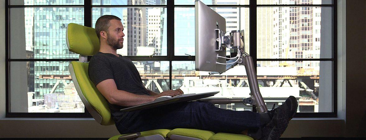 Escritorio para trabajar tumbado posición tumbado | Muebles de oficina Spacio