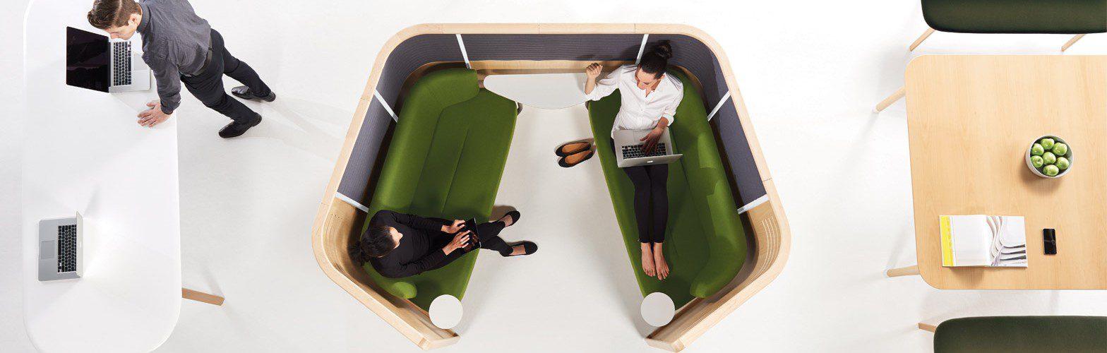 Evolución del mobiliario de oficina zonas relax | Muebles de oficina Spacio