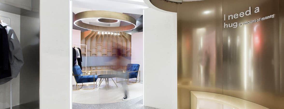 Expositores para tiendas área de descanso | Muebles de oficina Spacio