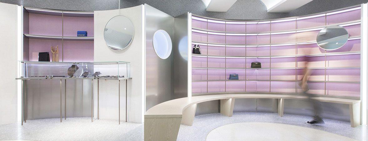 Expositores para tiendas estanterías y vitrinas | Muebles de oficina Spacio