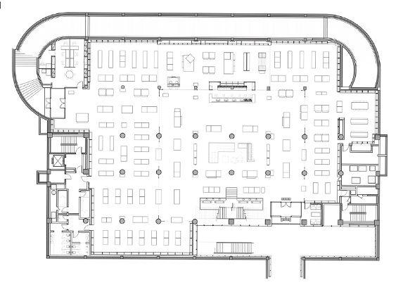 Mobiliario librería plano | Muebles de oficina Spacio