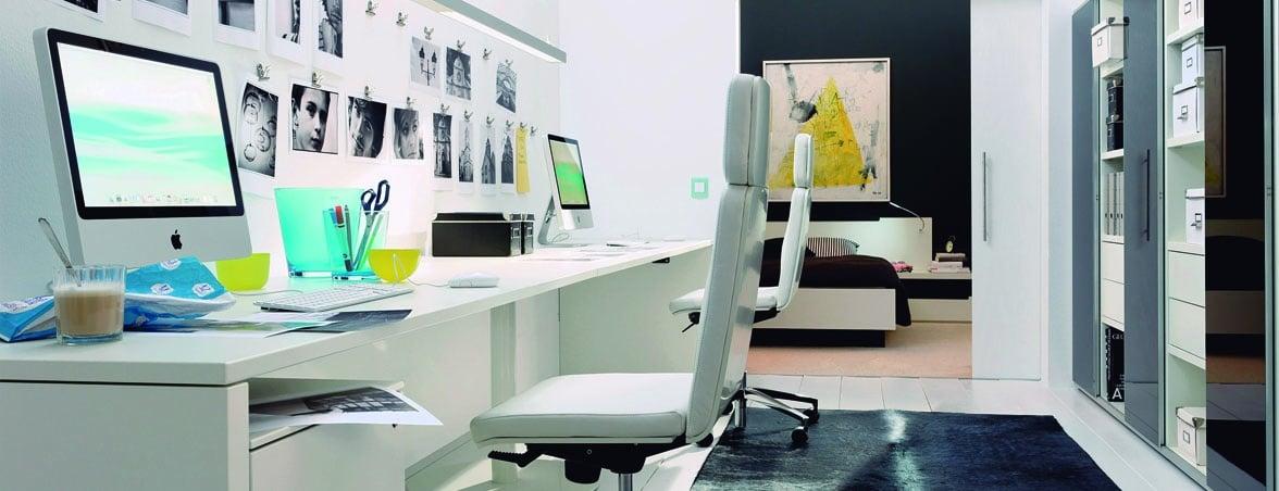 Oficina en casa blanco | Muebles de oficina Spacio