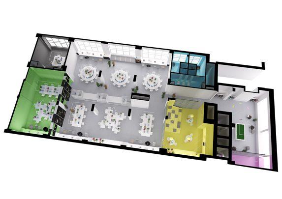 Oficinas de diseño plano | Muebles de oficina Spacio