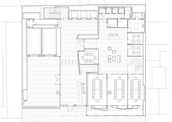 Oficinas modernas plano | Muebles de oficina Spacio