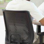 Silla para oficina Trim vista trasera | Muebles de oficina Spacio