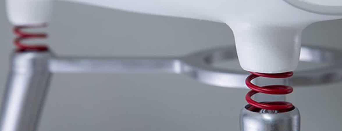 Sillas con amortiguador detalle | Muebles de oficina Spacio