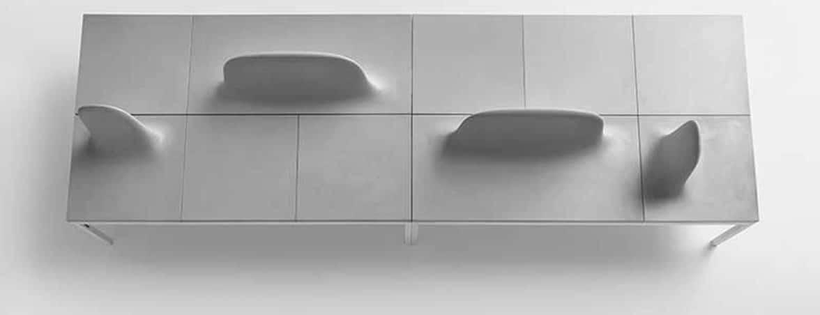 Bancadas de oficina cenital | Muebles de oficina Spacio