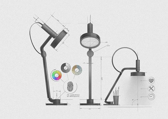 Lámpara de diseño Oma boceto | Muebles de oficina Spacio