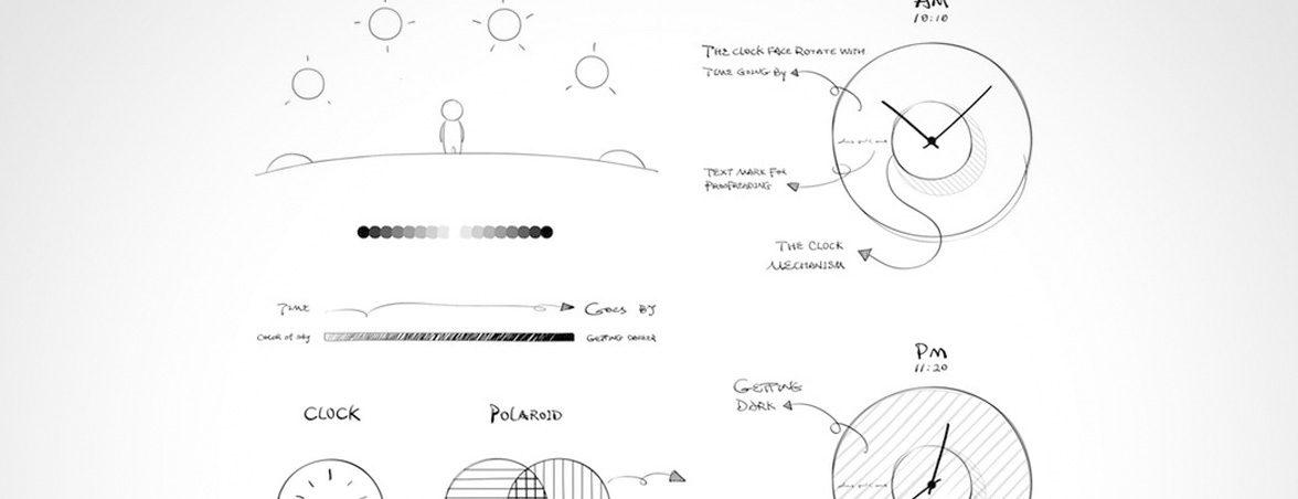 Relojes de oficina boceto | Muebles de oficina Spacio