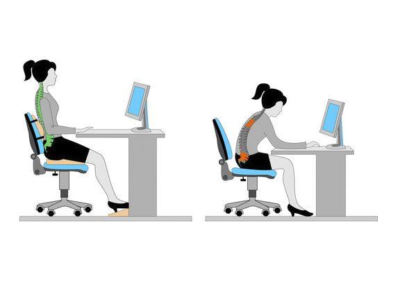 Sentarse bien posiciones | Muebles de oficina Spacio