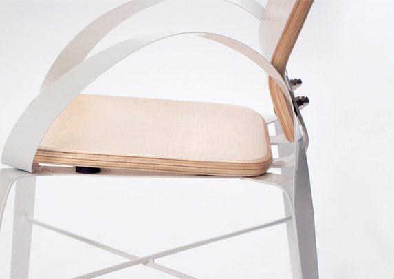 Silla con brazos curvados detalle | Muebles de oficina Spacio