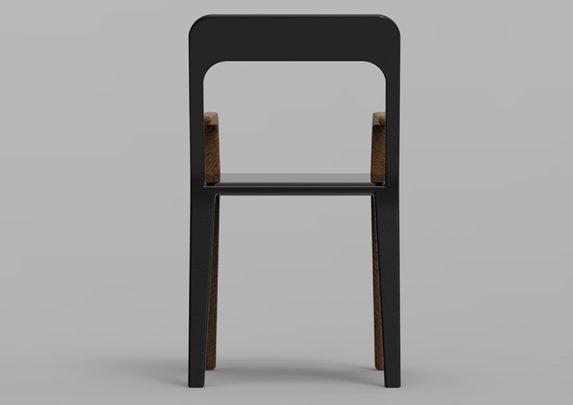 Silla con brazos trasera | Muebles de oficina Spacio