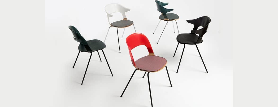 Silla confidente apilable combinaciones | Muebles de oficina Spacio