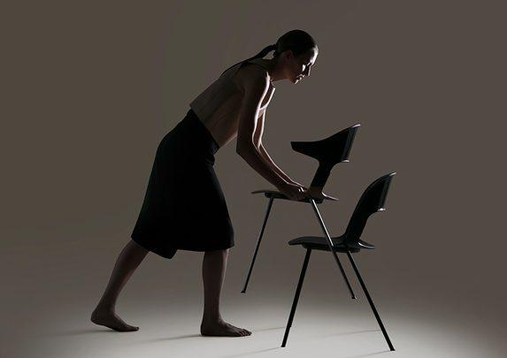 Silla confidente apilable cuatro patas | Muebles de oficina Spacio