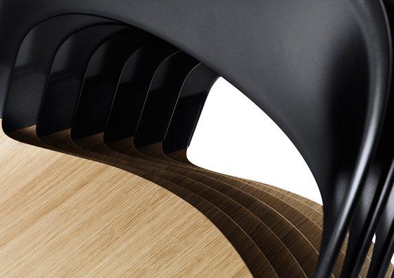 Silla confidente apilable detalle | Muebles de oficina Spacio