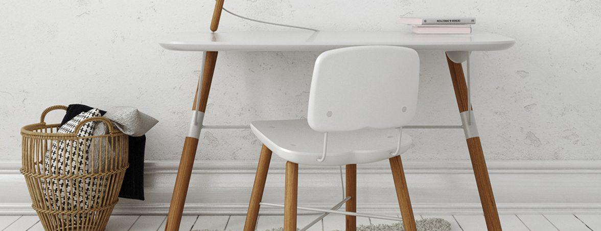 Silla escritorio blanca ambiente | Muebles de oficina Spacio