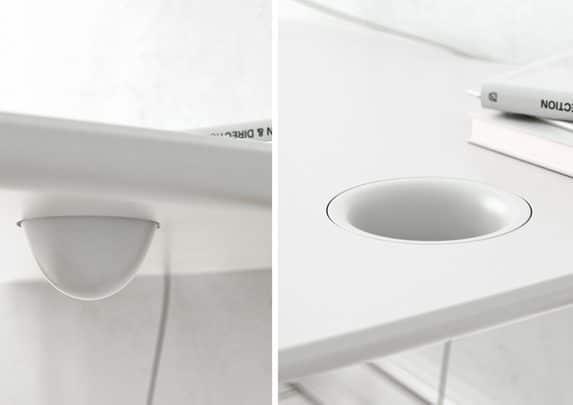Silla escritorio blanca hueco | Muebles de oficina Spacio
