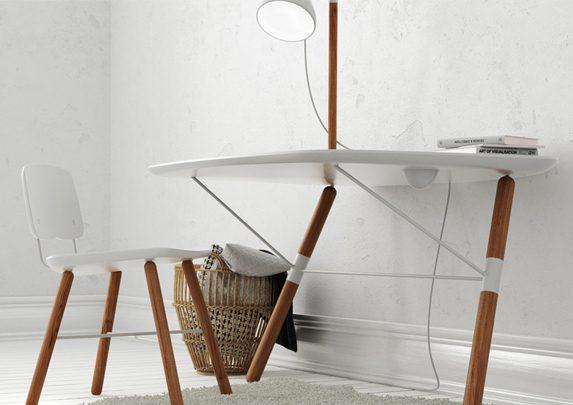 Silla escritorio blanca perfil | Muebles de oficina Spacio