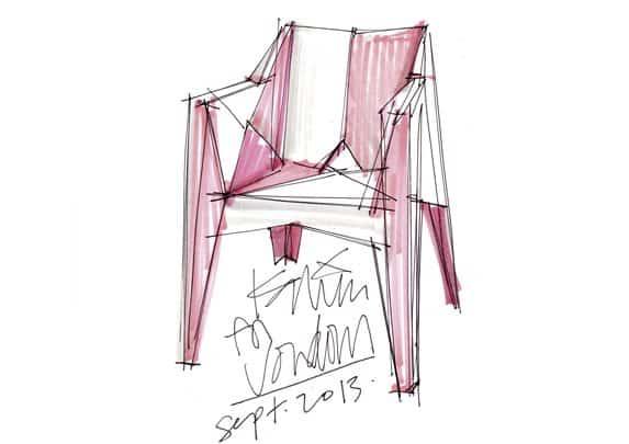 Silla minimalista boceto | Muebles de oficina Spacio