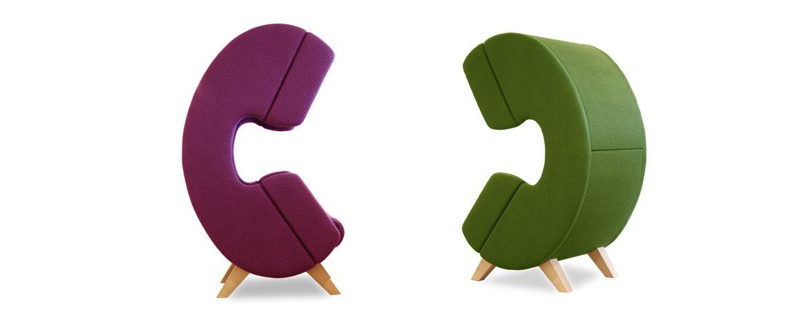 Silla para hablar por teléfono dúo | Muebles de oficina Spacio
