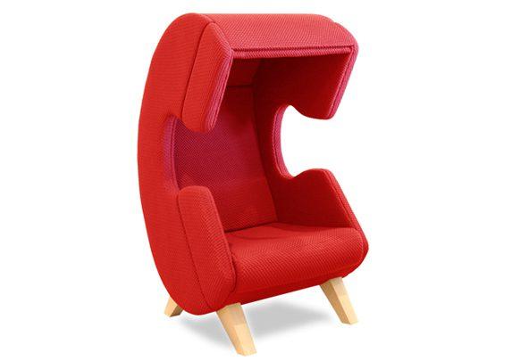 Silla para hablar por teléfono roja | Muebles de oficina Spacio