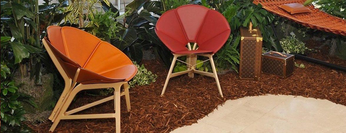 Sillas de diseño Louis Vuitton dos colores | Muebles de oficina Spacio