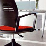 Sillas de estudio Spacio negra con ruedas | Muebles de oficina Spacio