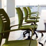Sillas de estudio Spacio verdes con brazos | Muebles de oficina Spacio