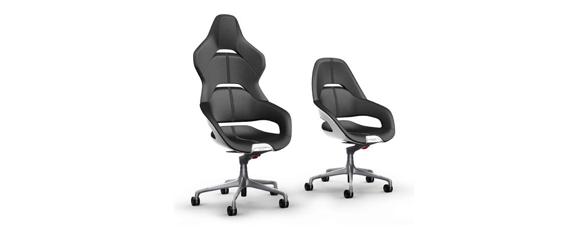 Sillas de oficina Ferrari negras | Muebles de oficina Spacio