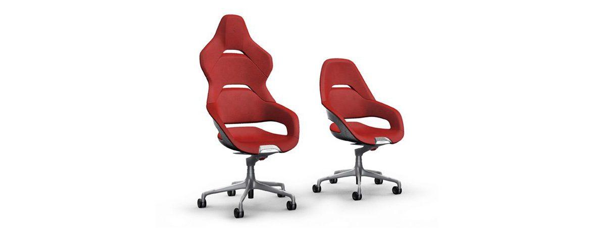 Sillas de oficina Ferrari rojas | Muebles de oficina Spacio