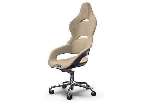 Sillas de oficina Ferrari tapicería beige | Muebles de oficina Spacio