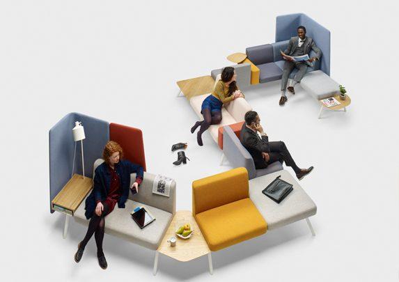 Sillas de oficina modulares disposición | Muebles de oficina Spacio