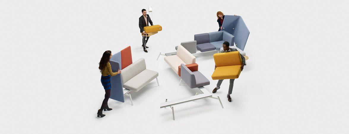 Sillas de oficina modulares montaje | Muebles de oficina Spacio
