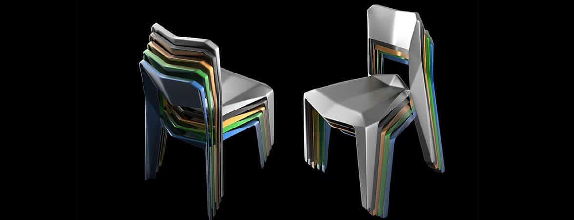 Sillas de plástico apiladas | Muebles de oficina Spacio
