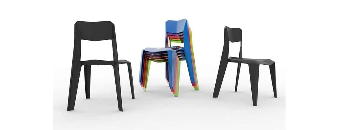 Sillas de plástico colores | Muebles de oficina Spacio