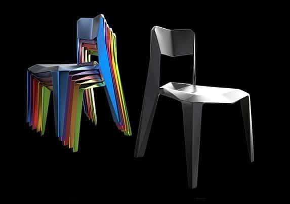 Sillas de plástico perfil | Muebles de oficina Spacio