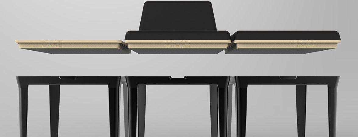 Sillas minimalistas composición | Muebles de oficina Spacio