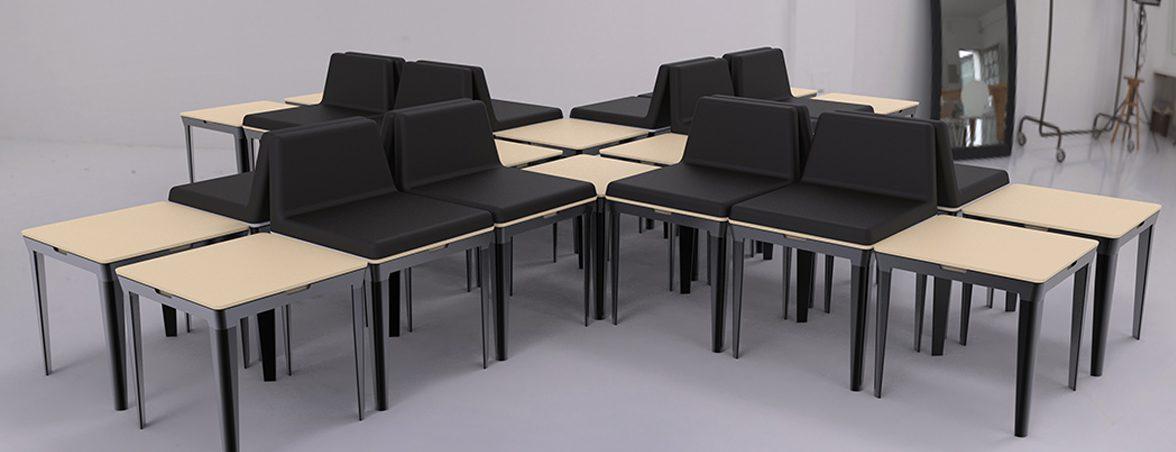 Sillas minimalistas conjunto | Muebles de oficina Spacio
