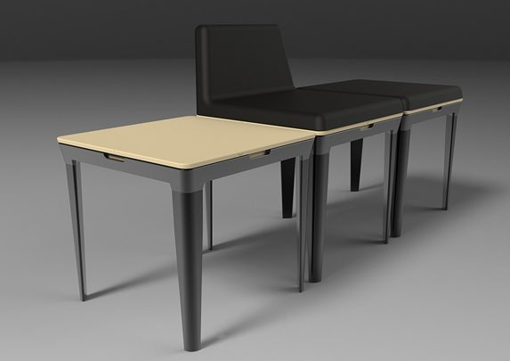 Sillas minimalistas general | Muebles de oficina Spacio