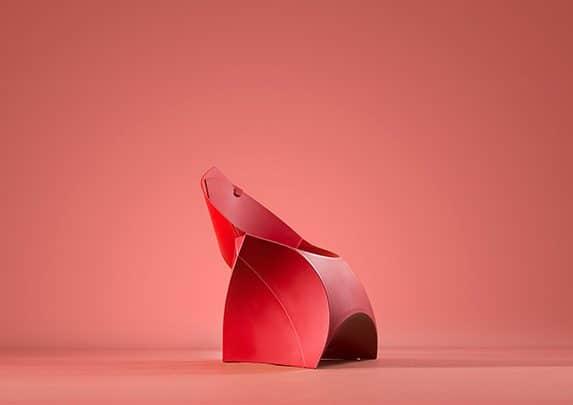 Sillas origami rojo | Muebles de oficina Spacio